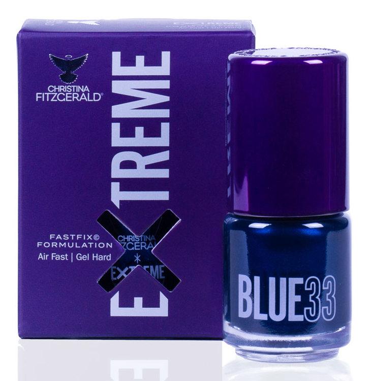 Купить CHRISTINA FITZGERALD Лак для ногтей 33 / BLUE EXTREME 15 мл, Синие