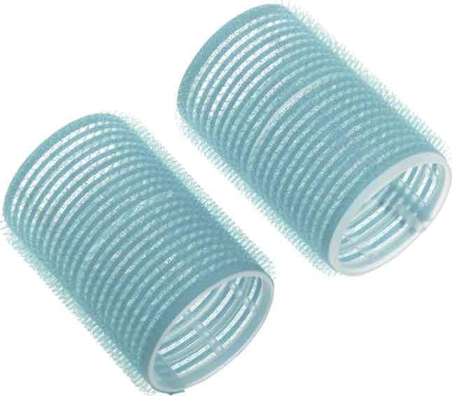 DEWAL BEAUTY Бигуди-липучки голубые, d 28x63 мм 10 шт