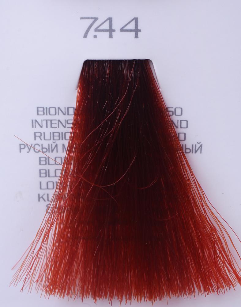 HAIR COMPANY 7.44 краска для волос / HAIR LIGHT CREMA COLORANTE 100млКраски<br>7.44 русый медный интенсивныйHair Light Crema Colorante   профессиональный перманентный краситель для волос, содержащий в своем составе натуральные ингредиенты и в особенности эксклюзивный мультивитаминный восстанавливающий комплекс. Минимальное количество аммиака позволяет максимально бережно относится к структуре волоса во время окрашивания. Содержит в себе растительные экстракты вытяжку из арахиса, лецитин, витамин А и Е, а так же витамин С который является природным консервантом цвета. Применение исключительно активных ингредиентов и пигментов высокого качества гарантируют получение однородного, насыщенного, интенсивного и искрящегося оттенка. Великолепно дает возможность на 100% закрасить даже стекловидную седину. Наличие 6-ти микстонов, а так же нейтрального бесцветного микстона, позволяет достигать получения цветов и оттенков. Способ применения: смешать Hair Light Crema Colorante с Hair Light Emulsione Ossidante в пропорции 1:1,5. Время воздействия 30-45 мин.<br><br>Вид средства для волос: Восстанавливающий<br>Класс косметики: Профессиональная