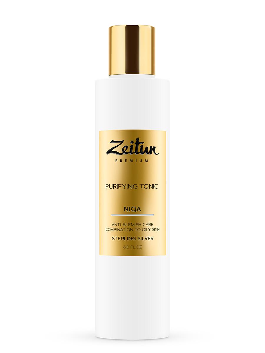 ZEITUN Тоник очищающий против несовершенств для комбинированной и жирной кожи с серебром / Niqa 200 мл  - Купить