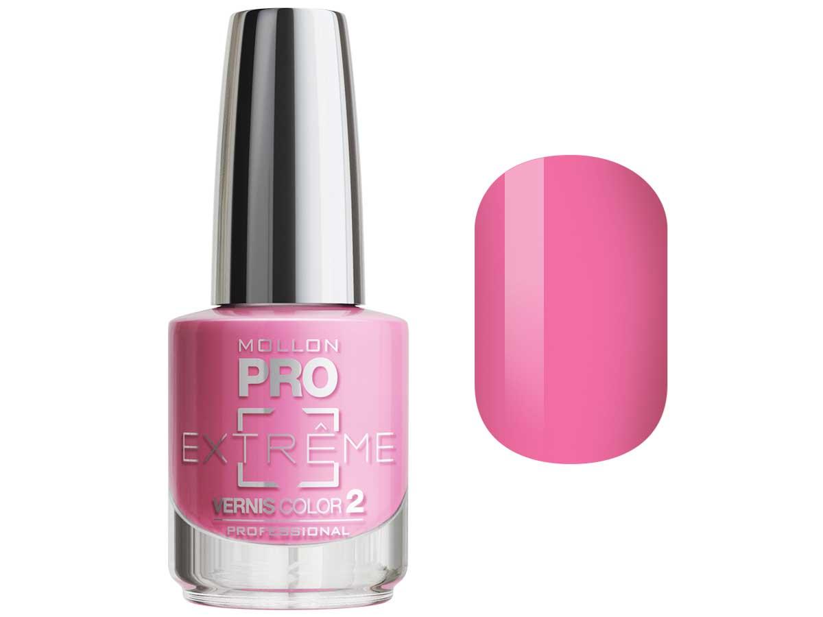MOLLON PRO Покрытие для ногтей цветное / Extreme Vernis Color 08 10млЛаки<br>Mollon PRO EXTREME 3 STEPS VERNIS  это инновационная, трехфазная система для стилизации ногтей. Благодаря формуле, обогащенной полимерами, продукты высыхают при естественном освещении, что позволяет сохранить эффект супер блеска на ногтях до 10 дней. Продукты наносятся как классический лак для ногтей, смываются жидкостью для снятия лака с ацетоном без компресса. EXTREME VERNIS COLOR COAT 2 - основной цвет очень гибкий, быстро сохнет и дает интенсивный цвет уже после первого цветного слоя. Способ нанесения: - Сделайте маникюр и обезжирьте ногтевую пластину. - Нанесите базу Mollon PRO Extreme Base Smooth Coat -1, дайте просохнуть 1 минуту. - Нанесите два слоя цветного лака Mollon PRO Extreme -2, интервал между слоями 2 минуты. - Покройте сверху закрепителем Mollon PRO Extreme Gloss Top Coat -3. - Оставьте на 10 минут для высыхания. Для снятия покрытия используйте жидкость для снятия лака.<br><br>Цвет: Розовые<br>Класс косметики: Профессиональная<br>Виды лака: Глянцевые