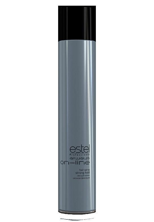 ESTEL PROFESSIONAL Лак для волос сильной фиксации / Always On-Line 400млЛаки<br>Прекрасно подходит для ежедневной салонной практики. Удобен для создания конкурсных работ в технической номинации, особенно по длинным волосам. Текстура лака позволяет прорабатывать образ на различных стадиях его готовности, давая возможность внести изменения и дополнения в прическу. Лак обеспечивает хорошую фиксацию, придает естественный блеск. Способ применения:&amp;nbsp;для завершения прически распылить лак с расстояния 30 см. на сухие волосы равномерно или на отдельные пряди.<br><br>Типы волос: Сухие