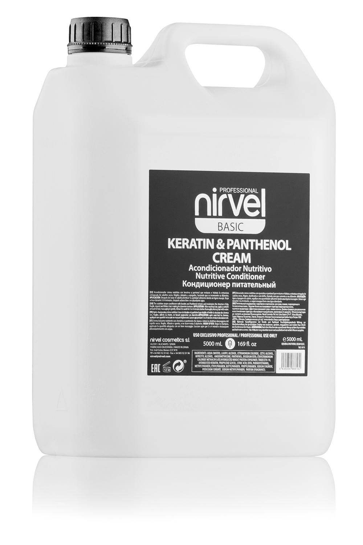 Купить NIRVEL PROFESSIONAL Кондиционер питательный с кератином и пантенолом для сухих, ломких и поврежденных волос / KERATIN & PANTHENOL CREAM 5000 мл