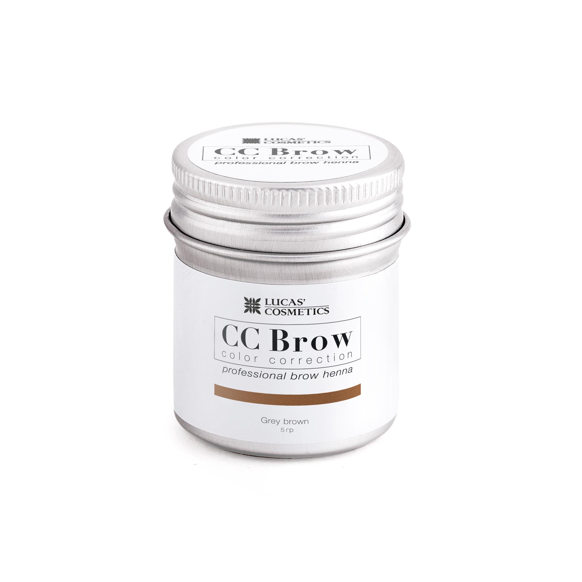 LUCAS' COSMETICS Хна для бровей в баночке (серо-коричневый) / CC Brow (grey brown), 5 гр