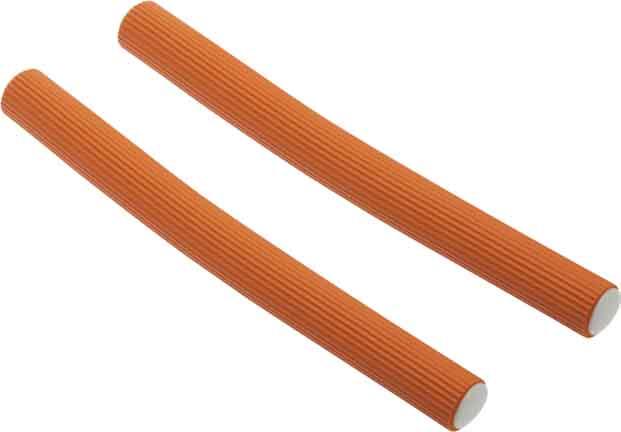 DEWAL BEAUTY Бигуди-бумеранги оранжевые, d 17x180 мм 10 шт - Бигуди