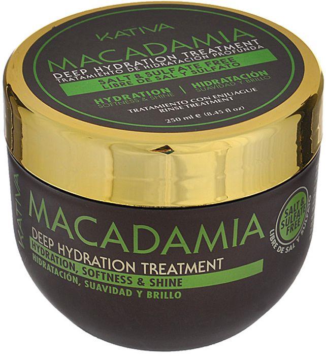 Купить KATIVA Уход интенсивный увлажняющий для волос / MACADAMIA 250 мл