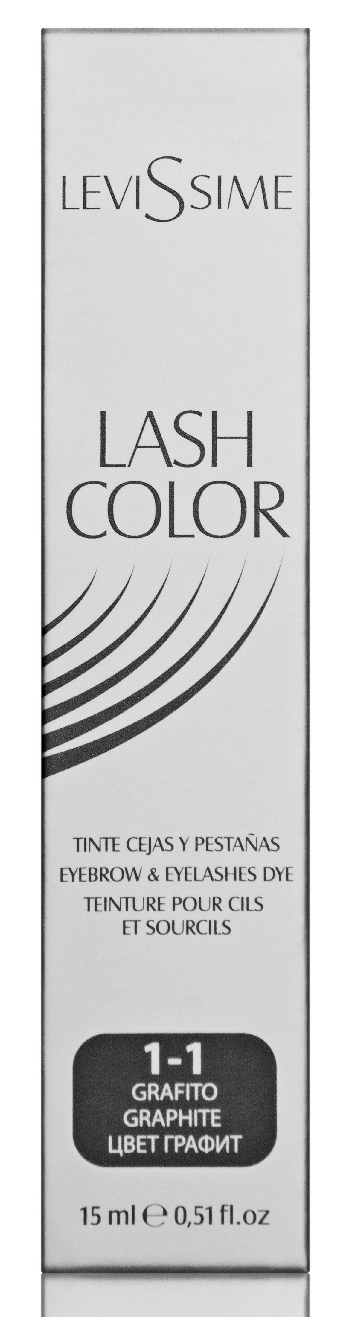 LEVISSIME Краска для бровей и ресниц, № 1.1 графит / Lash Color 15 мл -  Краски для бровей