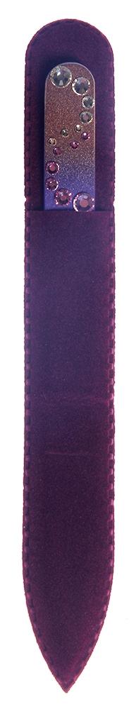 BOHEMIA PROFESSIONAL Пилочка стеклянная цветная Волны 2 135ммПилки для ногтей<br>Нет ничего лучше для натуральных ногтей, чем пилка из богемского хрусталя. Данный материал имеет практически неограниченный срок использования. Пилки Bohemia Professional имеют наиболее стойкий абразив. Пилка из богемского хрусталя также может стать стильным аксессуаром или красивым подарком. Bohemia Professional представляет Вам огромный выбор прозрачных и цветных пилок с декором: ручная роспись, декорация стразами, пилки с логотипом, и полноцветные изображения. Инструмент можно стерилизовать и обрабатывать химическими дезинфекторами, антисептиками.<br>