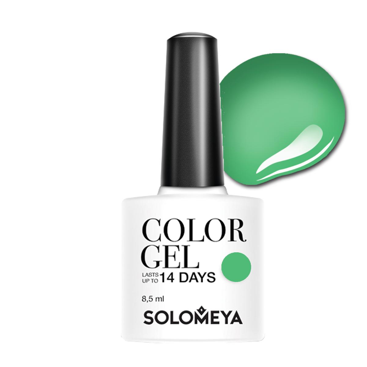 SOLOMEYA Гель-лак для ногтей SCG040 Природная зелень / Color Gel Natural Green 8,5мл гель лак для ногтей solomeya color gel beret scg034 берет 8 5 мл