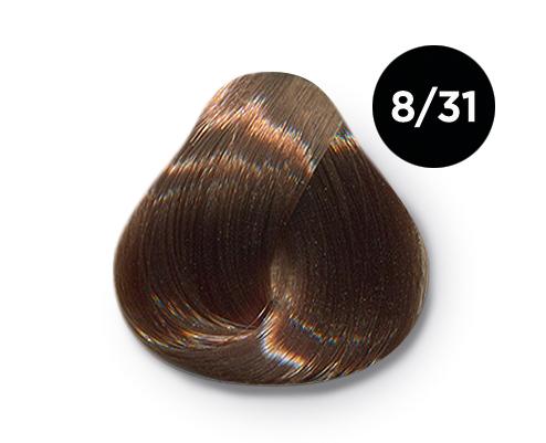 OLLIN PROFESSIONAL 8/31 краска для волос, светло-русый золотисто-пепельный / OLLIN COLOR 100 мл  - Купить