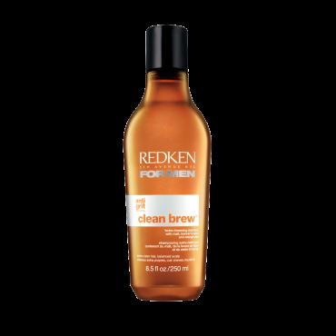 REDKEN Шампунь очищающий Клин Брю / FOR MEN 250млВолосы<br>Начните свое утро или освежитесь после тяжелого рабочего дня, используя энергию уникального очищающего шампуня для ежедневного применения CLEAN BREW, в состав которого входят солод, пивные дрожжи и вытяжка из апельсиновой цедры высшего качества. Технология Anti-Grit обеспечивает увлажнение и контроль за счет солода, укрепление волос и дополнительный объем благодаря пивным дрожжам и очищение и заряд невероятной энергией за счет вытяжки из апельсиновой цедры. Способ применения: Нанести на влажные волосы, вспенить, массировать в течение 1 минуты, тщательно смыть.<br><br>Пол: Мужской