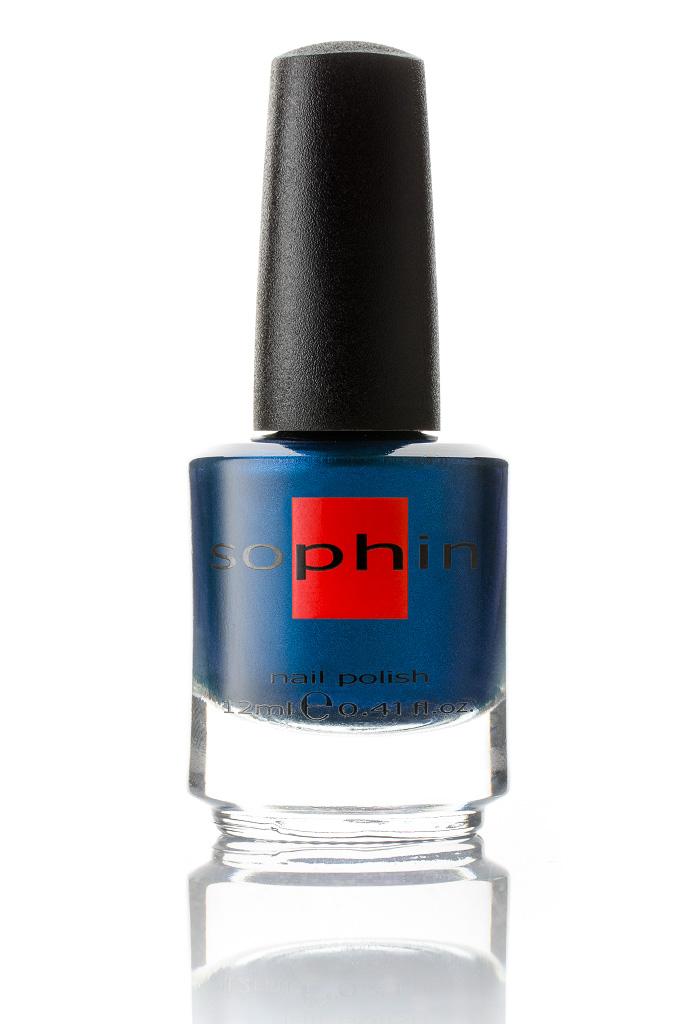 SOPHIN Лак для ногтей, насыщенный синий металлик 12мл