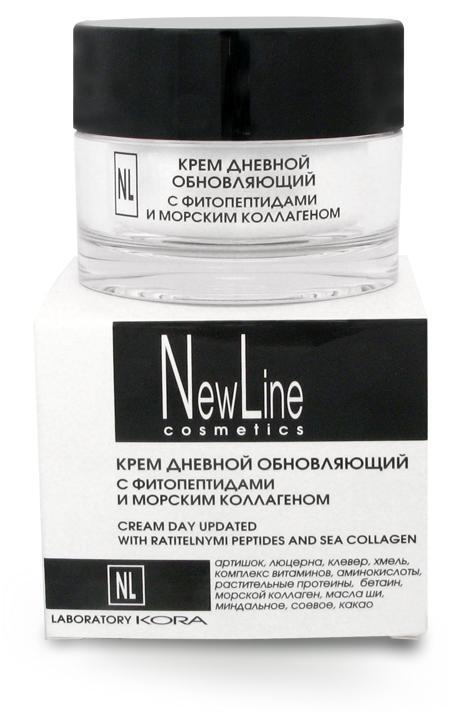 NEW LINE PROFESSIONAL Крем дневной обновляющий с фитопептидами и морским коллагеном 50мл