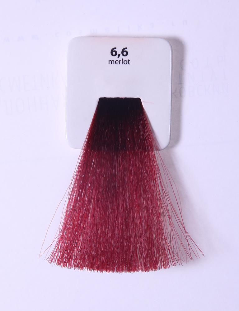 KAARAL 6.6 краска для волос / Sense COLOURS 100млКраски<br>6.6 темный красный блондин (мерло) Перманентные красители. Классический перманентный краситель бизнес класса. Обладает высокой покрывающей способностью. Содержит алоэ вера, оказывающее мощное увлажняющее действие, кокосовое масло для дополнительной защиты волос и кожи головы от агрессивного воздействия химических агентов красителя и провитамин В5 для поддержания внутренней структуры волоса. При соблюдении правильной технологии окрашивания гарантировано 100% окрашивание седых волос. Палитра включает 93 классических оттенка. Способ применения: Приготовление: смешивается с окислителем OXI Plus 6, 10, 20, 30 или 40 Vol в пропорции 1:1 (60 г красителя + 60 г окислителя). Суперосветляющие оттенки смешиваются с окислителями OXI Plus 40 Vol в пропорции 1:2. Для тонирования волос краситель используется с окислителем OXI Plus 6Vol в различных пропорциях в зависимости от желаемого результата. Нанесение: провести тест на чувствительность. Для предотвращения окрашивания кожи при работе с темными оттенками перед нанесением красителя обработать краевую линию роста волос защитным кремом Вaco. ПЕРВИЧНОЕ ОКРАШИВАНИЕ Нанести краситель сначала по длине волос и на кончики, отступив 1-2 см от прикорневой части волос, затем нанести состав на прикорневую часть. ВТОРИЧНОЕ ОКРАШИВАНИЕ Нанести состав сначала на прикорневую часть волос. Затем для обновления цвета ранее окрашенных волос нанести безаммиачный краситель Easy Soft. Время выдержки: 35 минут. Корректоры Sense. Используются для коррекции цвета, усиления яркости оттенков, создания новых цветовых нюансов, а также для нейтрализации нежелательных оттенков по законам хроматического круга. Содержат аммиак и могут использоваться самостоятельно. Оттенки: T-AG - серебристо-серый, T-M - фиолетовый, T-B - синий, T-RO - красный, T-D - золотистый, 0.00 - нейтральный. Способ применения: для усиления или коррекции цвета волос от 2 до 6 уровней цвета корректоры добавляются в краситель по Прав