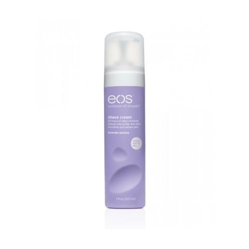EOS Крем для бритья тела для женщин Лаванда-Жасмин / Eos Lavender Jasmine 207млКремы<br>Супер-нежный увлажняющий крем для бритья с расслабляющими ароматом лаванды и жасмина. Богатый питательными компонентами, непенящийся крем для бритья с содержанием масла ши и антиоксидантных витаминов Е и С. Обеспечивает 24 часа ультра-успокаивающей влаги. Смягчает, защищает кожу от царапин при бритье. Особенности: 96% натуральная формула Делает кожу мягкой и гладкой Повышает уровень влаги кожи Способ применения: вы можете наносить крем как на сухую, так и на влажную кожу.<br><br>Объем: 207 мл<br>Вид средства для тела: Увлажняющий