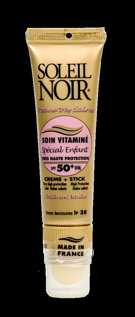SOLEIL NOIR Набор для лица Высокая степень защиты (Крем для лица SPF50+ и бальзам для губ SPF30) 20+2мл