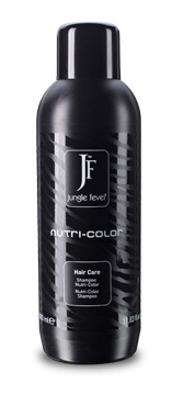 JUNGLE FEVER Шампунь для окрашенных волос / Nutri-Color Shampoo HAIR CARE 1000млШампуни<br>Помогает сохранить насыщенный цвет волос и препятствует потускнению цвета. В состав шампуня входят: протеины шелка, которые способствуют регенерации поврежденных волос, увлажнению и образованию защитной пленки; масло оливы, которое питает, защищает и восстанавливает волосы. После применения шампуня волосы выглядят мягкими, шелковистыми и сияющими. При этом волосы сохраняют насыщенный цвет волос. Способ применения: нанести на кожу головы и влажные волосы, массировать до образования пены, затем тщательно смыть теплой водой. При необходимости повторить. Активные ингредиенты: Aqua/ Вода&amp;nbsp; Ammonium Lauryl Sulfate/Аммония лаурил сульфат   поверхностно-активное вещество, обладает выраженной пенообразующей способностью, моющим действием, является хорошими эмульгатором, удаляет жир и загрязнения с поверхности кожи и волос.&amp;nbsp; Sodium Myreth Sulfat - представляет собой смесь органических соединений, используется как компонент моющих средств с поверхностно-активными свойствами.&amp;nbsp; Sodium Cocoamphoacetate/ Натрия кокоамфоацетат   амфотерное поверхностно-активное вещество, сурфактант, усиливающий пенообразование, оказывает мягкое очищающее действие в составе деликатных шампуней, в очищающих средствах для кожи действует как мягкий моющий компонент.&amp;nbsp; Sodium Chloride/ Хлорид натрия   используется для повышения вязкости некоторых препаратов.&amp;nbsp; MIPA-Lauryl Sulfate - ПАВ. Понижают поверхностное натяжение косметических продуктов, позволяя более эффективно очищать кожу.&amp;nbsp; Glycol Distearate/Гликоль дистеарат   эмульгатор, увлажнитель, смягчитель, регулятор вязкости. Очищающий агент. Добавляется в косметические средства для того чтобы сделать их непроницаемыми для света. Parfum/Парфюмерная композиция&amp;nbsp; Citric Acid/Лимонная кислота - обладает вяжущим, очищающим, антиоксидантным, бактерицидным и отбеливающим действием. Нормализует рН баланс кожи.Gu