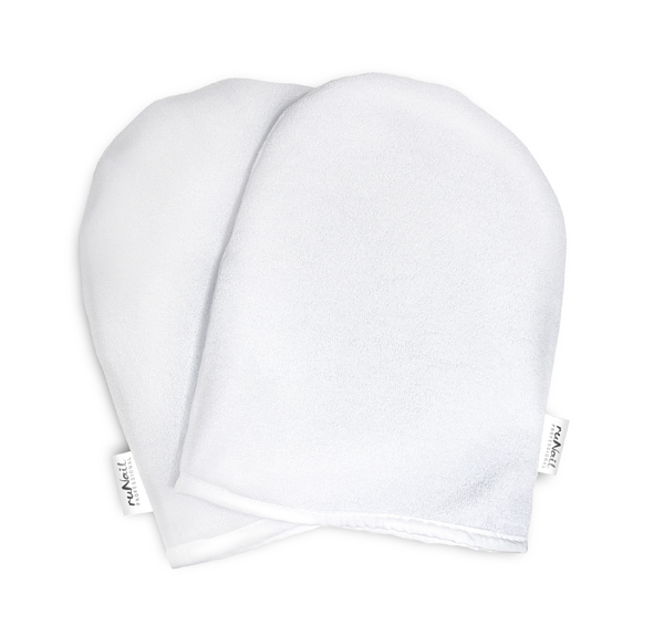 RuNail Варежки косметические махровые, белые 2 шт - Рукавицы