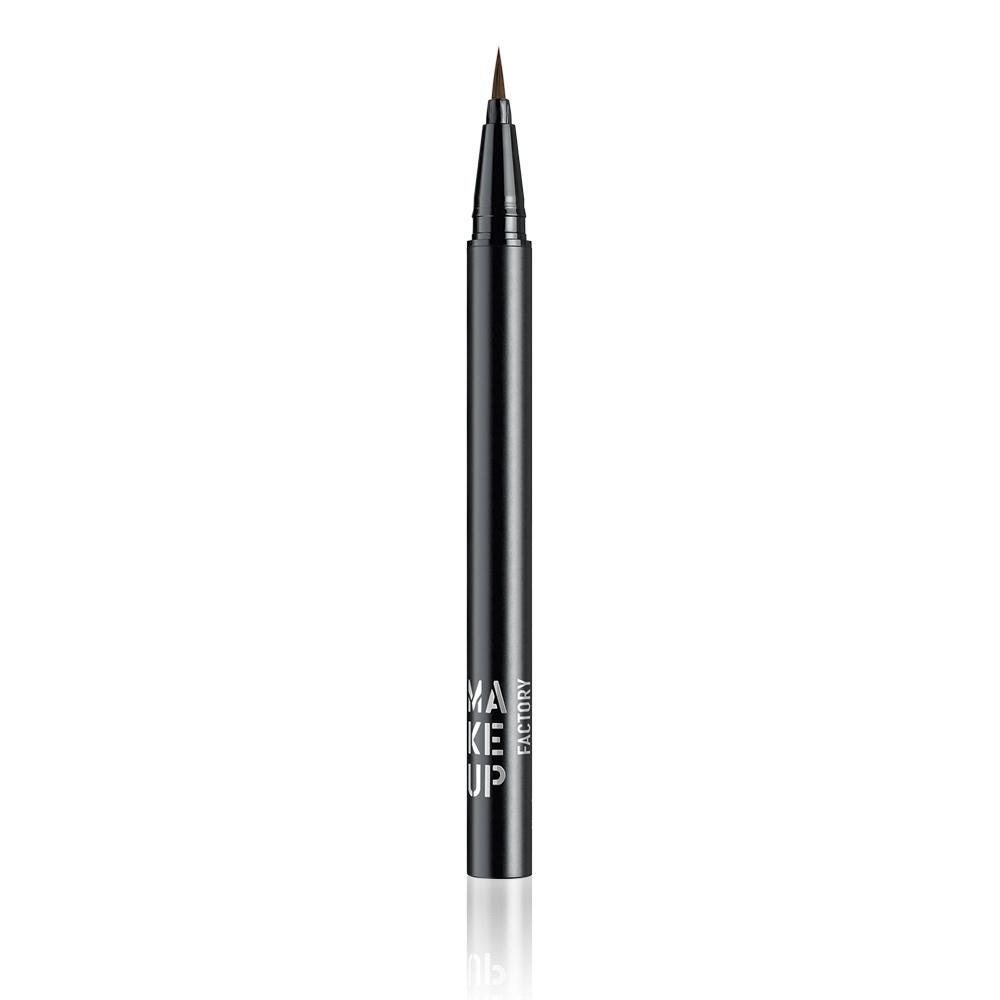 MAKE UP FACTORY Подводка жидкая для глаз, 05 коричневый / Calligraphic Eye Liner -  Подводки