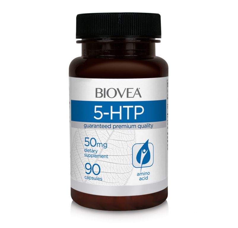 Купить BIOVEA Добавка биологически активная к пище 5-гидрокситриптофан / 5-HTP 50 мг 90 капсул