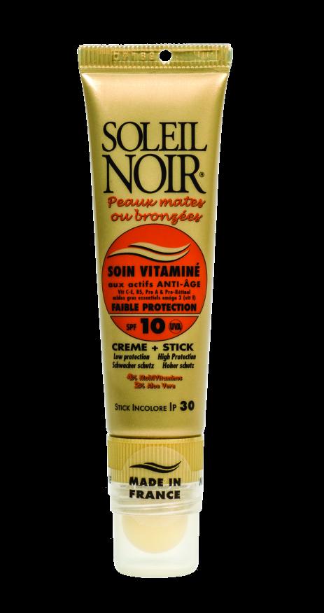 """SOLEIL NOIR Набор для лица """"Низкая степень защиты"""" (Крем для лица SPF10 и бальзам для губ SPF30) 20+2мл"""
