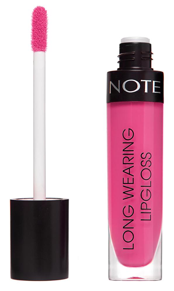 Купить NOTE Cosmetics Блеск стойкий для губ 17 / LONG WEARING LIPGLOSS 6 мл