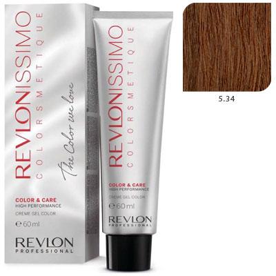 Revlon professional 5.34 краска для волос, светло-коричневый золотисто-медный