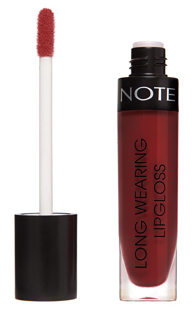 Купить NOTE Cosmetics Блеск стойкий для губ 20 / LONG WEARING LIPGLOSS 6 мл