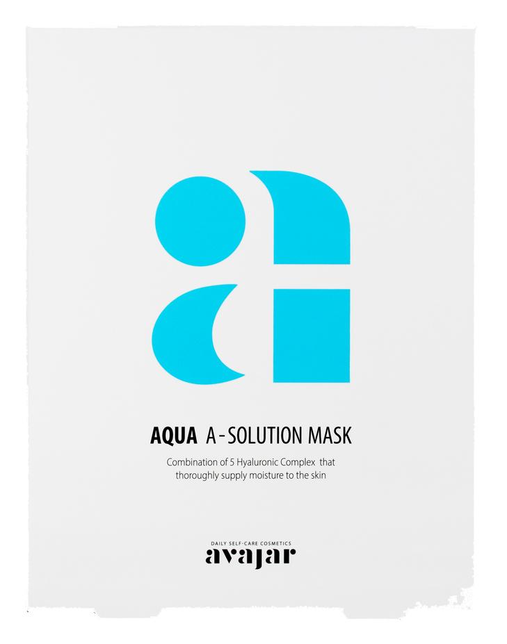 AVAJAR Маска тканевая увлажняющая для сухой обезвоженной кожи / Aqua A-Solution Mask 10 шт
