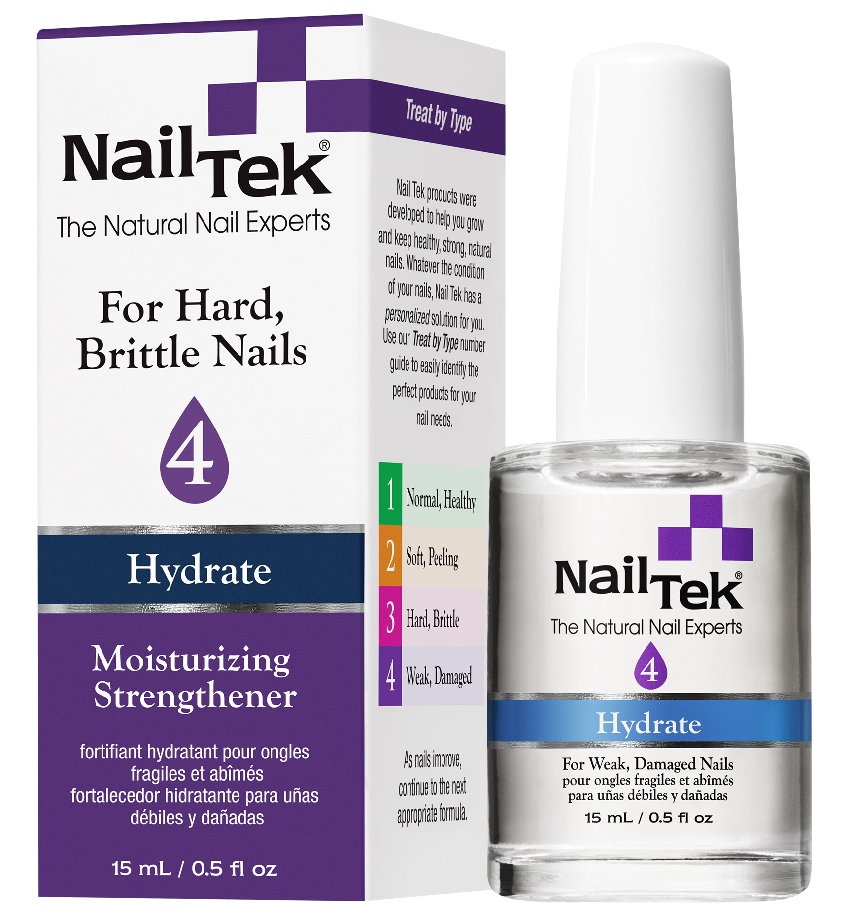 NAIL TEK Сыворотка увлажняющая для восстановления сильно поврежденных ногтей / HYDRATE XTRA 4  15 млОсобые средства<br>Увлажняющая сыворотка для очень сильно поврежденных ногтей 15 мл. Концентрированная лечебная сыворотка с усиленной формулой кальция укрепляет даже самые слабые ногти (деликатное воздействие). Входящий в формулу пентавитин дополнительно увлажняет, придает ногтям силу и упругость. Для ногтей,  не держащих  моделирующие средства.<br><br>Типы ногтей: Поврежденные