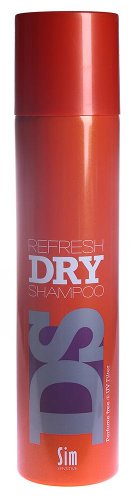 SIM SENSITIVE Шампунь сухой ДиЭс Рефреш Драй / Refresh Dry Shampoo DS 300млШампуни<br>Быстродействующий сухой шампунь, не требующий воды. Шампунь мгновенно освежает и очищает волосы, придает волосам матовую текстуру, при этом, не перегружая их. Не содержит парабен и консерванты. Состав: butane, isobutane, alcohol denat, propane, solanum tuberosum (potato) starch, aluminum starch octenylsuccinate, aqua, hydrated silica, cocotrimonium methosulfate, benzophenone-4. Способ применения: перед использованием хорошо встряхните. Распылите непосредственно на грязные волосы с расстояния 10-15см. Хорошенько встряхните волосы и расчешите.<br><br>Типы волос: Для всех типов