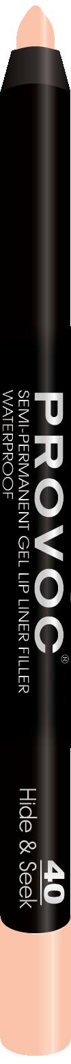 Купить PROVOC Подводка гелевая в карандаше для губ, 40 молочно-бежевый / Gel Lip Liner Hide & Seek 10 г