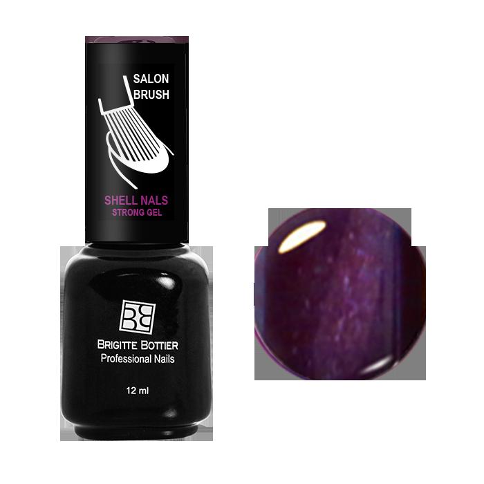 BRIGITTE BOTTIER 947 гель-лак магнитный для ногтей, фиолетовый кошачий глаз / Shell Nails 12 мл