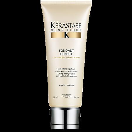 KERASTASE Молочко для густоты и плотности волос / DENSIFIQUE 200млМолочко<br>Невероятно легкая, кремовая текстура молочка Densit  восстанавливает и укрепляет структуру волос. Волосы выглядят более плотными и ухоженными. Активные ингредиенты: &amp;nbsp;гиалуроновая кислота + Интра Силан. Гиалуроновая кислота придает волосам упругость и плотность. Способ применения: нанести на вымытые и отжатые полотенцем волосы небольшое количество молочка. Оставить для воздействия на 1-2 минуты. Тщательно смыть.<br><br>Типы волос: Тонкие