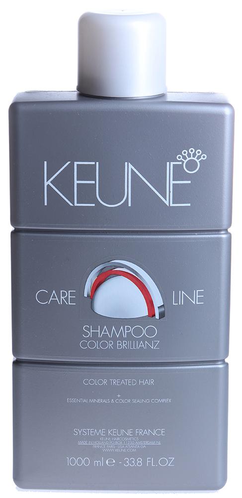KEUNE Шампунь Кэе Лайн Яркость цвета / CL COLOR SHAMPOO 1000млШампуни<br>Шампунь для окрашенных волос предотвращает выцветание и обеспечивает долговременный блеск. Продлевает яркость окрашенных волос с трех сторон: кожа, внутренние и внешние слои волос. Активный состав: Соламер обеспечивает защиту от широкого спектра УФ-A и УФ-B излучения. Экстракт семян подсолнечника защищает окрашенные волосы от потери цвета благодаря окислению свободных радикалов. LP300 &amp;ndash; стабилизатор цвета. Полимеры улучшают расчесываемость волос. Шелковые Протеины делают волосы гладкими, шелковистыми и блестящими. Применение: Нанесите шампунь на фронтальную часть и затылок. Мягкими массажными движениями взбейте шампунь в пену. Тщательно смойте теплой водой. Просушите полотенцем и повторите при необходимости.<br><br>Объем: 1000<br>Типы волос: Окрашенные