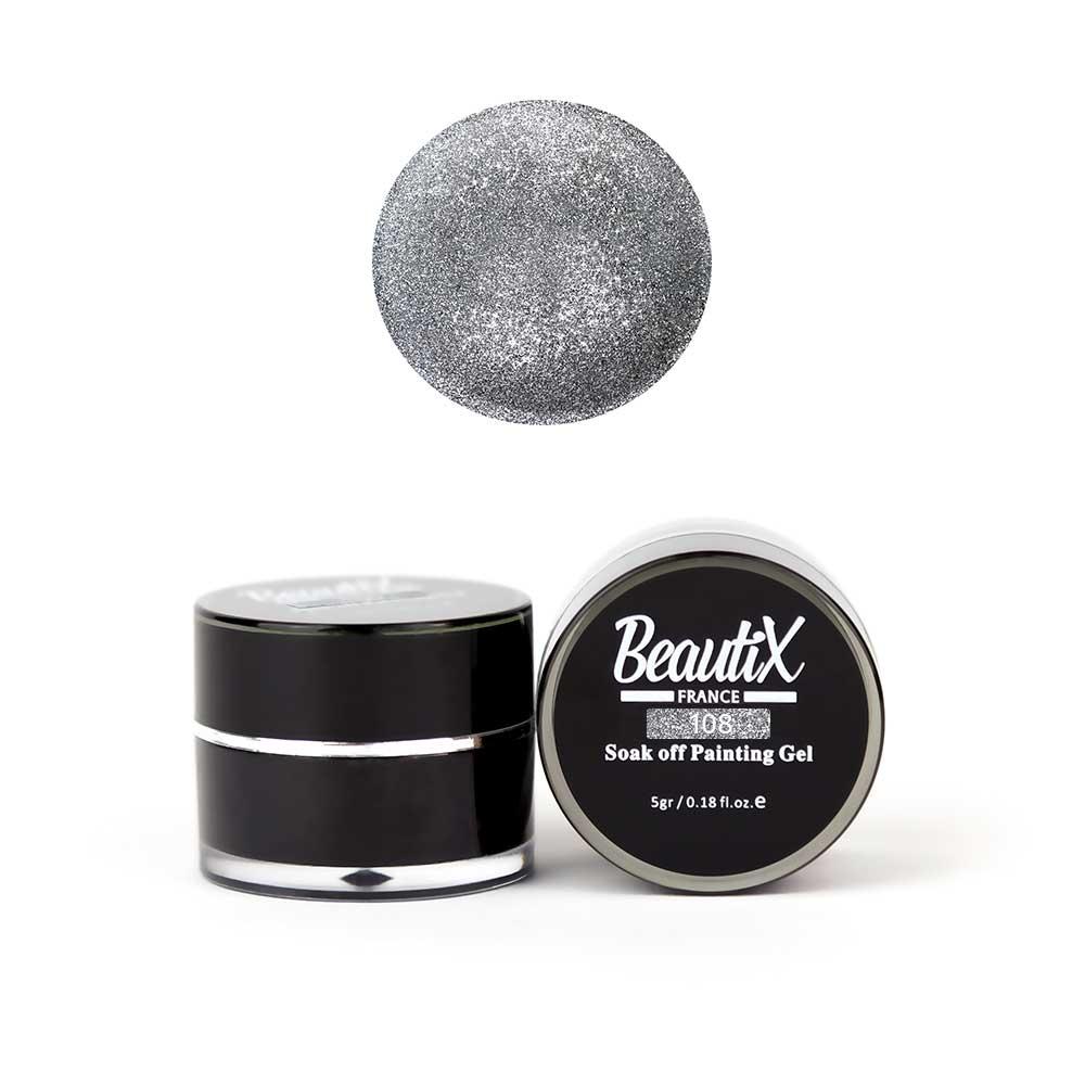 Купить BEAUTIX Глиттер мелкозернистый, 108 темно-серебряный / Gel Painting Glitz 5 г
