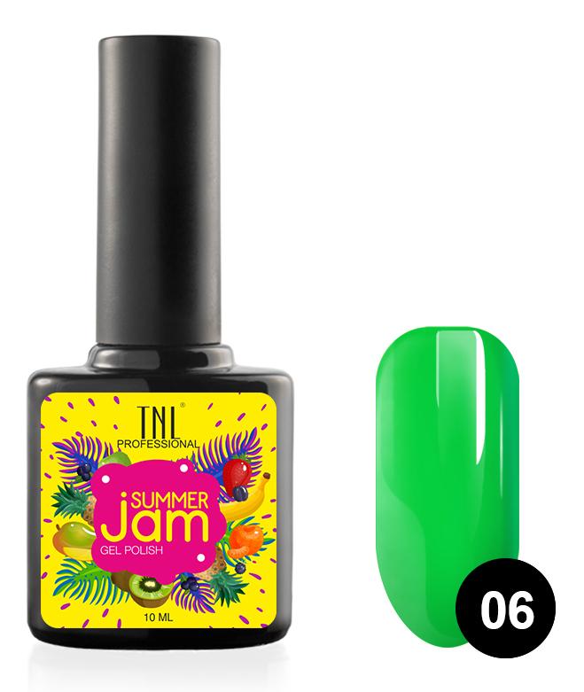 Купить TNL PROFESSIONAL 06 гель-лак для ногтей, неоновый зеленый / Summer Jam 10 мл, Зеленые