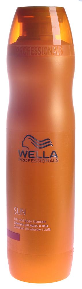 WELLA Шампунь для волос и тела / WP SUN 250млШампуни<br>Шампунь для волос и тела с витамином Е применяется после пребывания на солнце, мягко очищает волосы и кожу от солнцезащитных средств, соленой воды, увлажняет, придает ощущение бодрости, а также соблазнительный блеск вашим локонам.<br><br>Типы волос: Для всех типов