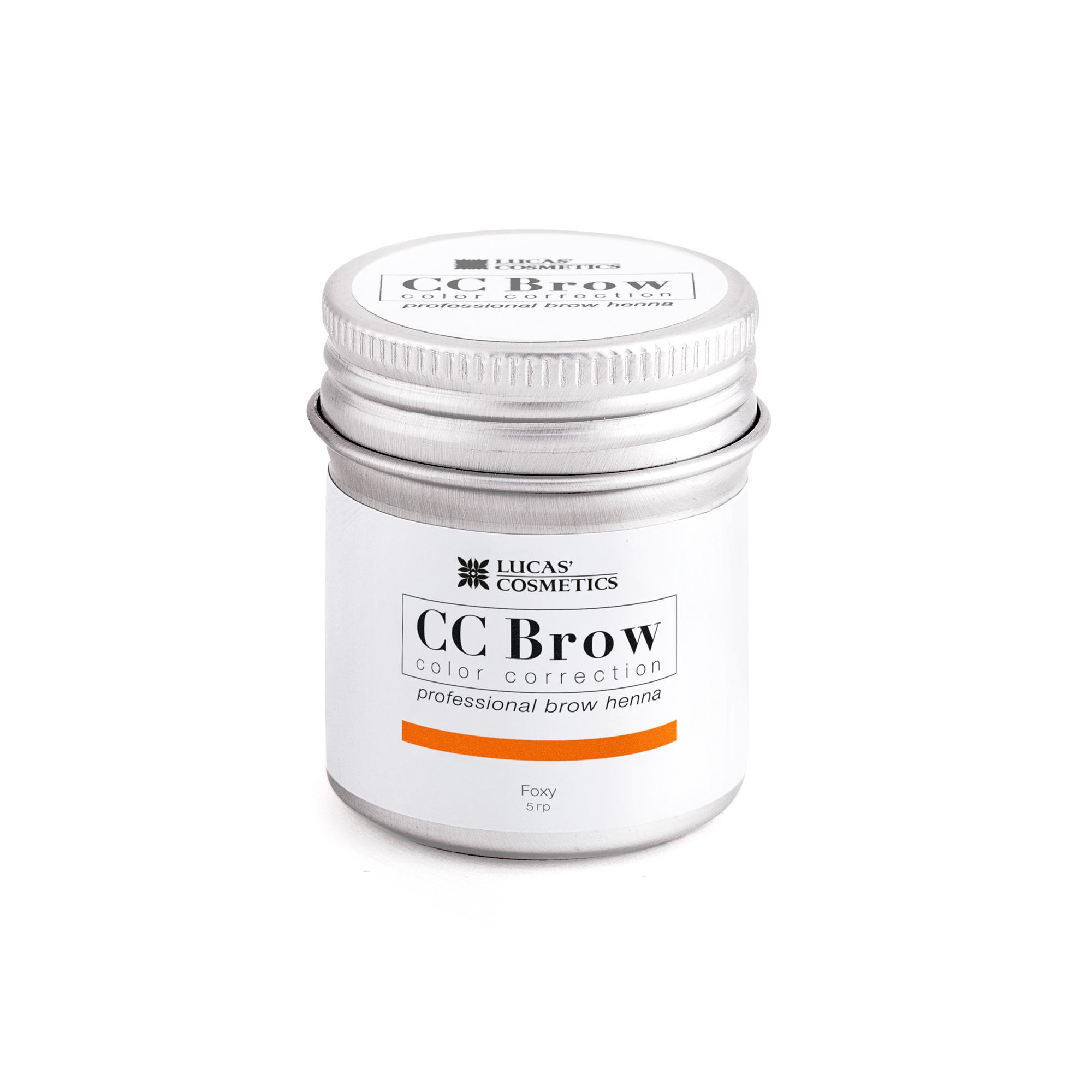 LUCAS' COSMETICS Хна для бровей в баночке (рыжий) / CC Brow (foxy), 5 гр -  Краски для бровей