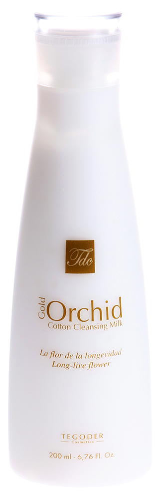 TEGOR Молочко очищающее Золотая орхидея / GOLD ORCHID COTTON 200млМолочко<br>Данное средство великолепно подойдет для чувствительной и сухой кожи. Одним из основных компонентов молочка &amp;laquo;Золотая орхидея&amp;raquo; от Тегор является абрикосовое масло, которое восстанавливает эпидермальный барьер, разглаживает мелкие морщинки, оказывает регенерирующее, противовоспалительное, омолаживающее и тонизирующее действие. Благодаря молочку  Золотая орхидея  от Tegor ваша кожа обретет красивый, здоровый цвет, вновь станет эластичной. Активный состав: Экстракт орхидеи фаленопсис, гидролизированный протеин пшеницы, абрикосовое масло, витамин Е, пальмитиновая и аскорбиновая кислоты. Способ применения: Нанесите необходимое количество молочка  Золотая орхидея  от Тегор на чистую кожу лица. Немного помассируйте, затем смойте теплой водой.<br><br>Объем: 200<br>Возраст применения: После 35