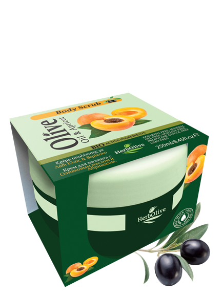 MADIS Крем-скраб для тела с абрикосом и маслом оливы / HerbOlive 250 мл
