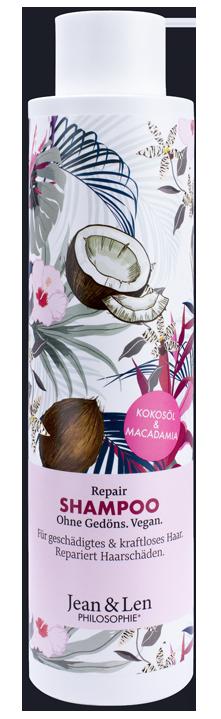 Купить JEAN & LEN Шампунь восстанавливающий с кокосовым маслом и макадамией / PHILOSOPHI SHAMPOO REPAIR KOKOSOL & MACADAMIA 300 мл