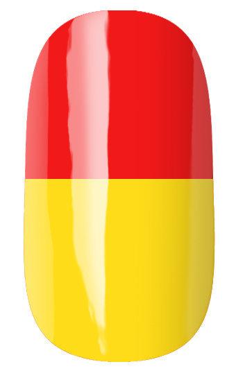 RuNail Гель-лак термо, красный-желтый / Thermo 7 мл -  Гель-лаки