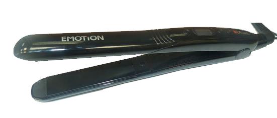 DEWAL PROFESSIONAL Щипцы для волос Emotion черные, с терморегулятором, керамико-турмалиновое покрытие, 25х90 мм, 39 Вт щетка туннельная dewal 2 х сторонняя пластиковый штифт 9 рядов 1108215