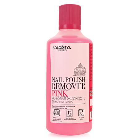 SOLOMEYA Жидкость для снятия лака розовая / Pink 500мл -  Снятие лака