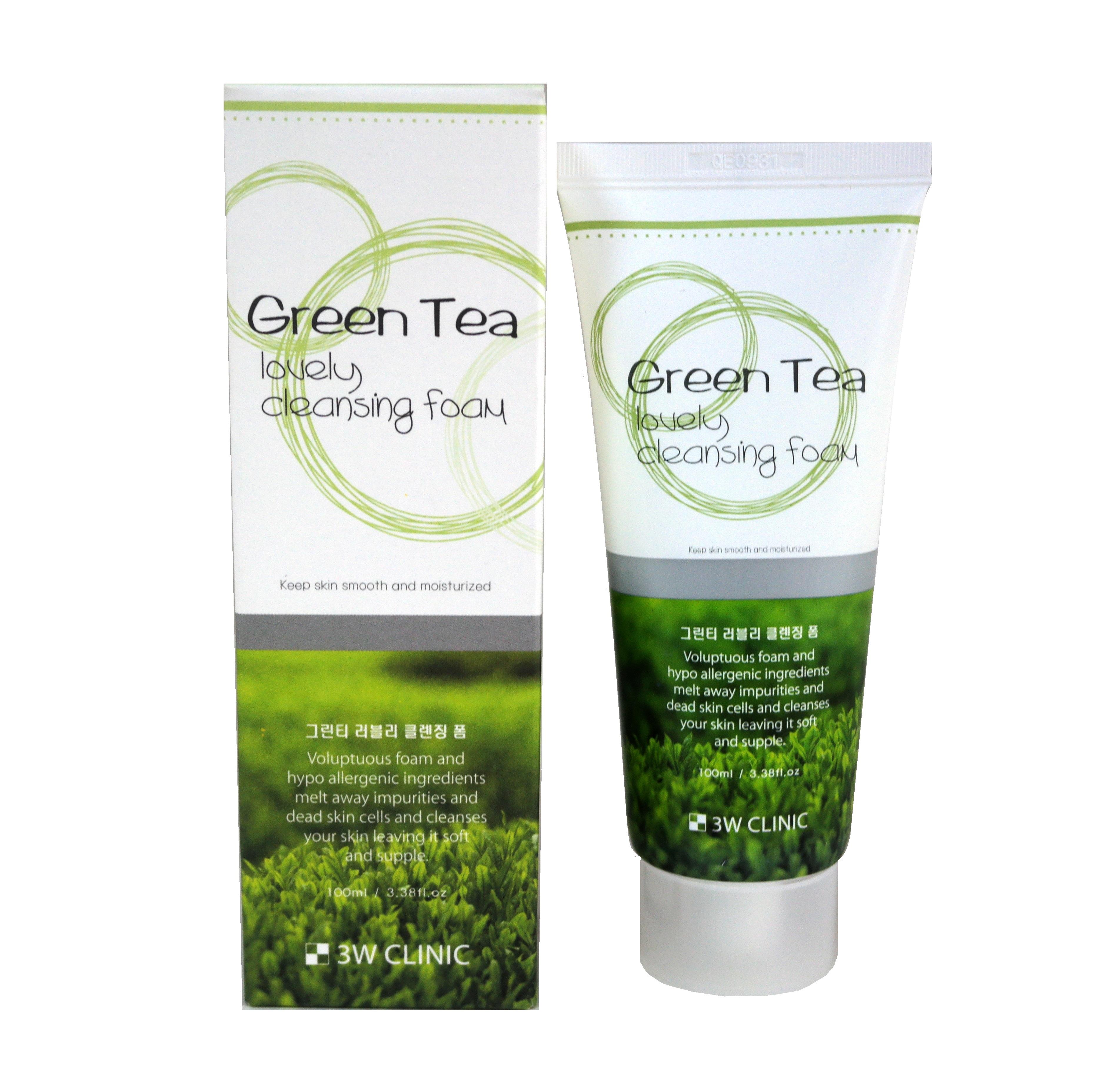Купить 3W CLINIC Пенка для умывания с зеленым чаем / Foam Cleansing 100 мл
