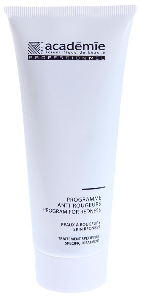 ACADEMIE Программа против покраснений 100мл~Кремы<br>Лечение и защита. Содержит экстракты лайма, бузины, конского каштана. Тонизирует и укрепляет стенки сосудов. Успокаивает, снижает реактивность, адаптирует кожу к агрессивным проявлениям окружающей среды. Чувствительная кожа с покраснениями. РЕЗУЛЬТАТ: улучшает состояние сосудов и успокаивает. Возвращает коже ощущение комфорта. Активные ингредиенты: Производная кремния: 4% Увлажняющий активный ингредиент: 3% Экстракт липы: 2.5% Успокаивающий активный ингредиент: 1% Успокаивающий экстракт Кудзу: 1% Экстракт конского каштана: 0.2% 18-? глицирретиновая кислота: 0.2% Гипоаллергенный активный ингредиент: 0.2% Концентрация активных ингредиентов 12.1%<br><br>Вид средства для лица: Успокаивающий<br>Типы кожи: Чувствительная