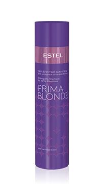 ESTEL PROFESSIONAL Шампунь оттеночный серебристый для холодных оттенков блонд / Estel Prima Blonde 250мл