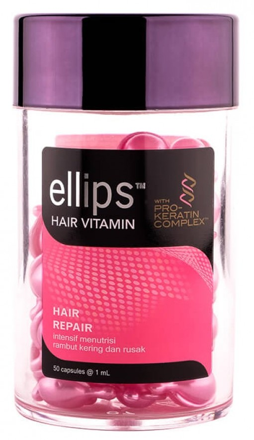 Купить ELLIPS Масло для восстановления, блеска, питания и увлажнения волос, розовые капсулы / Pro Keratin Complex Hair Repair 50 шт (45 г)