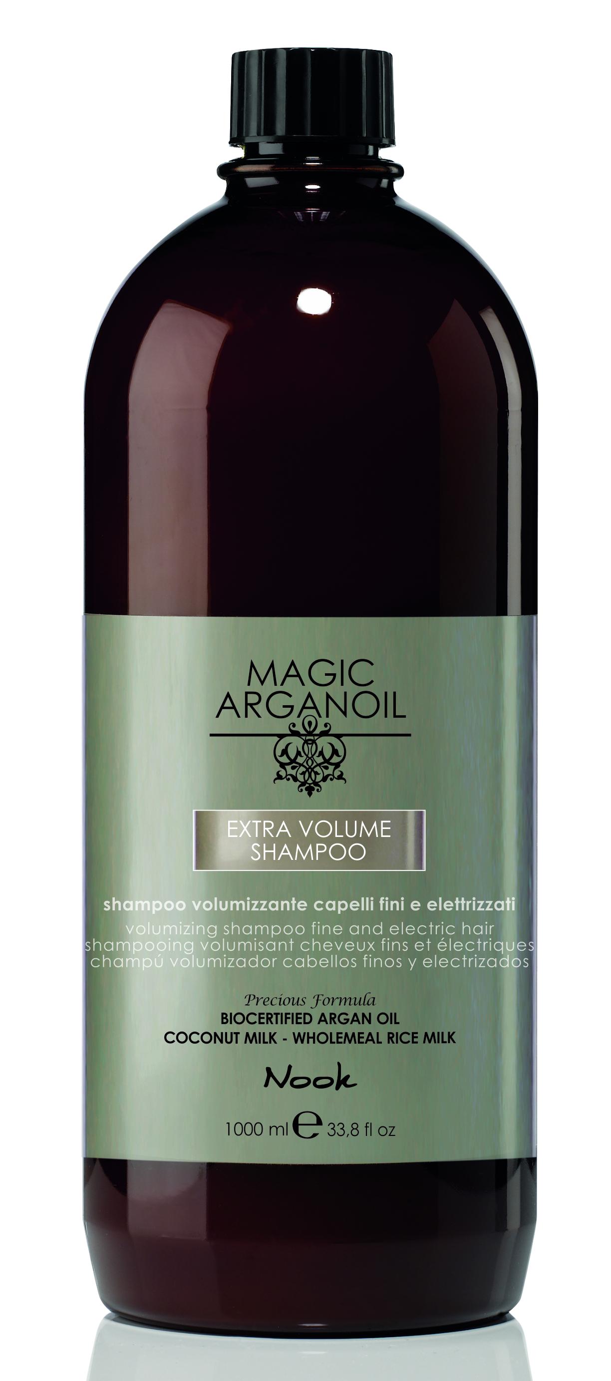 NOOK Шампунь для придания объема тонким и наэлектризованным волосам / Extra Volume Shampoo MAGIC ARGANOIL 1000 мл.